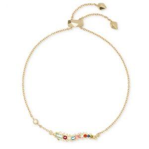 NWT KENDRA SCOTT Marianne bracelet multi gold